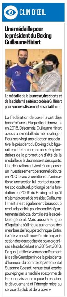 Article La Republique 26 Sept 2020
